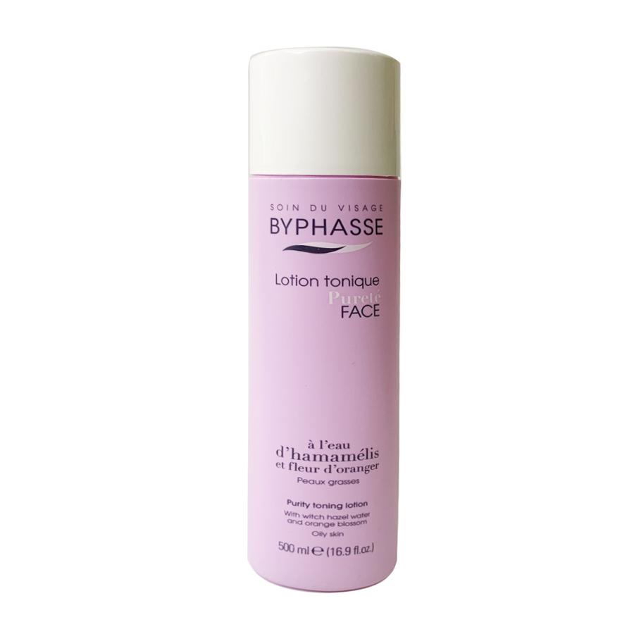 Toner Byphasse chiết xuất từ nước cây phỉ & tinh chất hoa cam 500ml