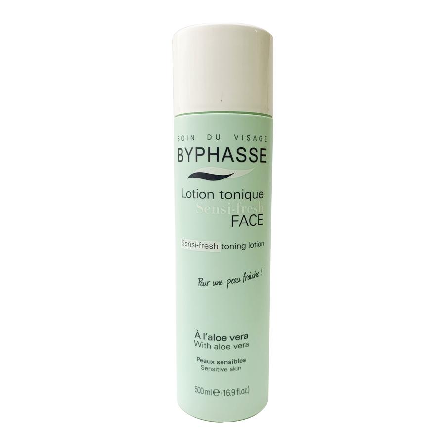Toner Byphasse Sensi Fresh chiết xuất từ lô hội dành cho da nhạy cảm - 500ml