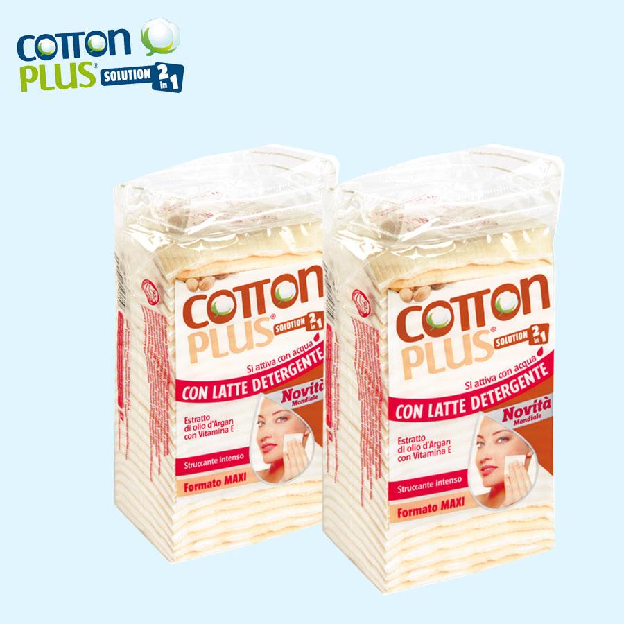 Bông tẩy trang cao cấp Cotton Plus 2 trong 1 ( Chiết xuất dầu Argan & Vitamin E)