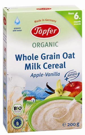 Bột ăn dặm ngũ cốc yến mạch sữa táo vani